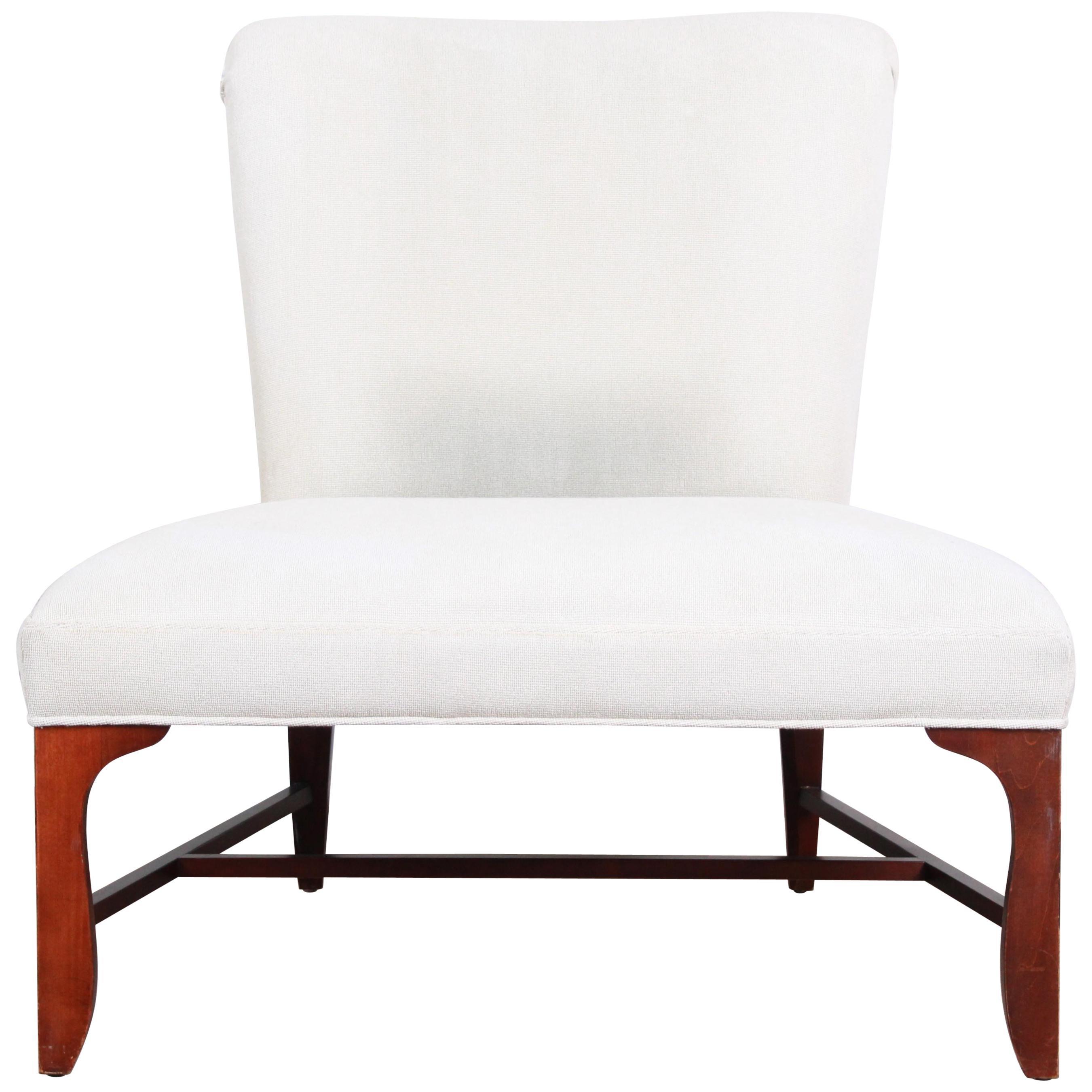 Baker Furniture Elegant Oversized Slipper Chair