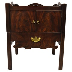 Baker Furniture English Georgian Mahogany End Table Washstand Nightstand Cabinet