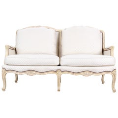Baker Furniture French Carved Louis XV Style Loveseat