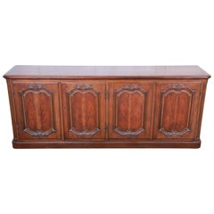 Baker Furniture French Country Cherry Wood Sideboard Credenza or Bar Cabinet