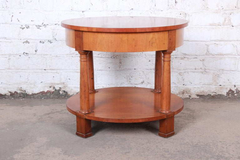 Baker Furniture French Empire Cherrywood Occasional Table or Nightstand, 1960s For Sale 5