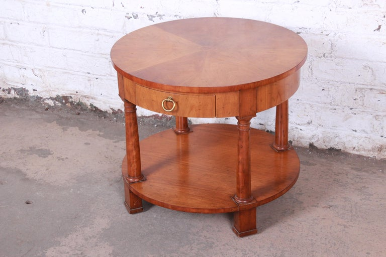 American Baker Furniture French Empire Cherrywood Occasional Table or Nightstand, 1960s For Sale