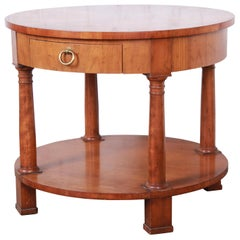 Baker Furniture French Empire Cherrywood Occasional Table or Nightstand, 1960s