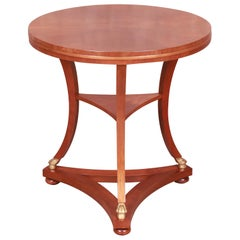 Baker Furniture French Empire Mahogany Tea Table, Newly Refinished