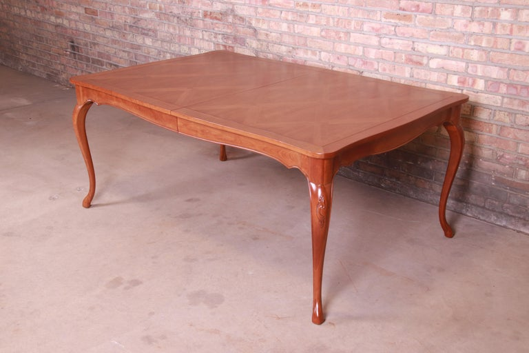 Baker Furniture French Provincial Louis XV Cherrywood Dining Table, Refinished For Sale 7