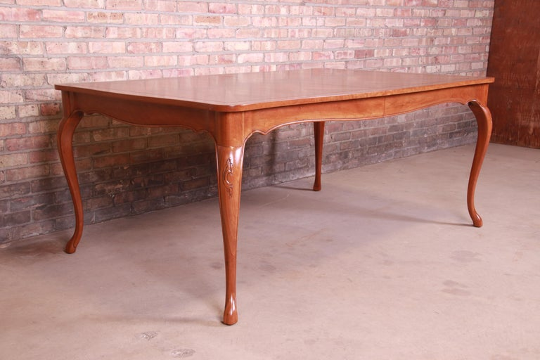 Baker Furniture French Provincial Louis XV Cherrywood Dining Table, Refinished For Sale 9