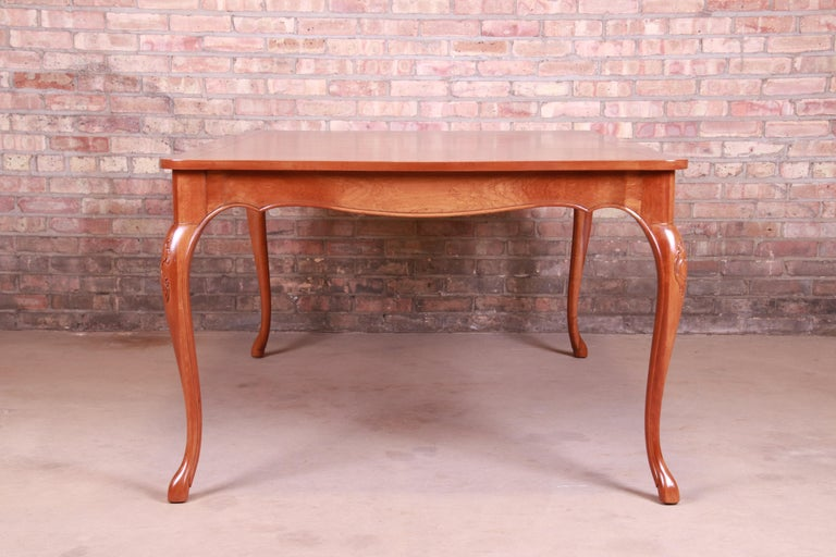 Baker Furniture French Provincial Louis XV Cherrywood Dining Table, Refinished For Sale 14