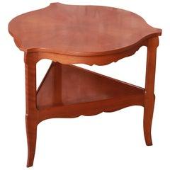Baker Furniture French Provincial Louis XV Walnut Tea Table, Circa 1960s