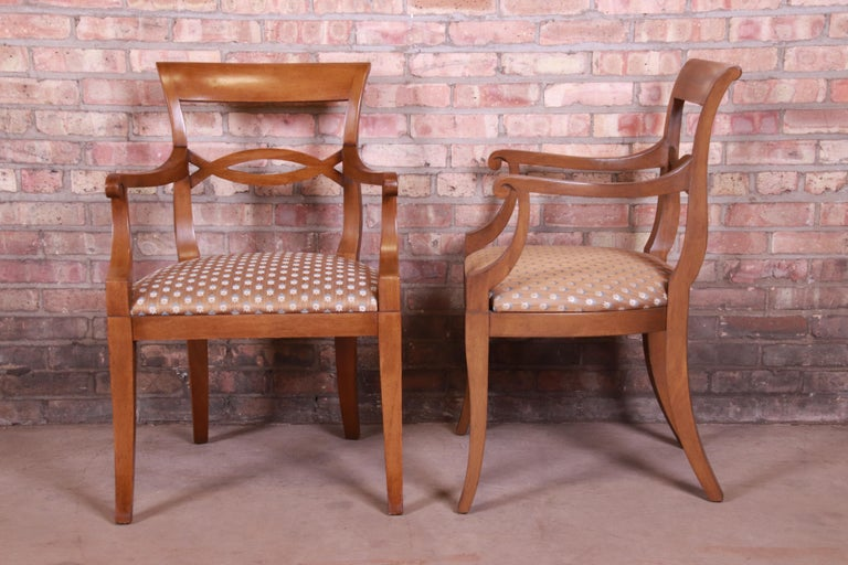 Baker Furniture French Provincial Walnut Dining Chairs, Set of Six 4