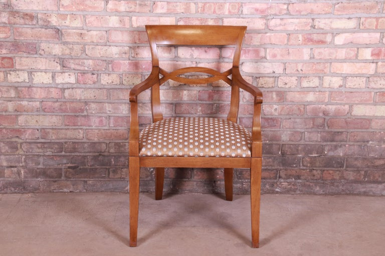 Baker Furniture French Provincial Walnut Dining Chairs, Set of Six 5
