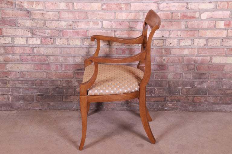 Baker Furniture French Provincial Walnut Dining Chairs, Set of Six 6