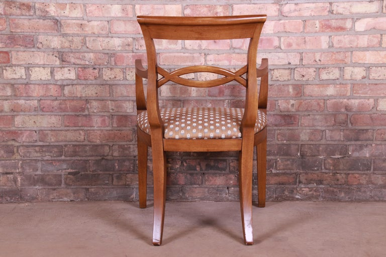 Baker Furniture French Provincial Walnut Dining Chairs, Set of Six 7
