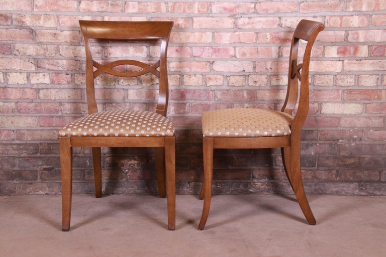 Baker Furniture French Provincial Walnut Dining Chairs, Set of Six 1