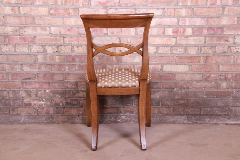 Baker Furniture French Provincial Walnut Dining Chairs, Set of Six 2