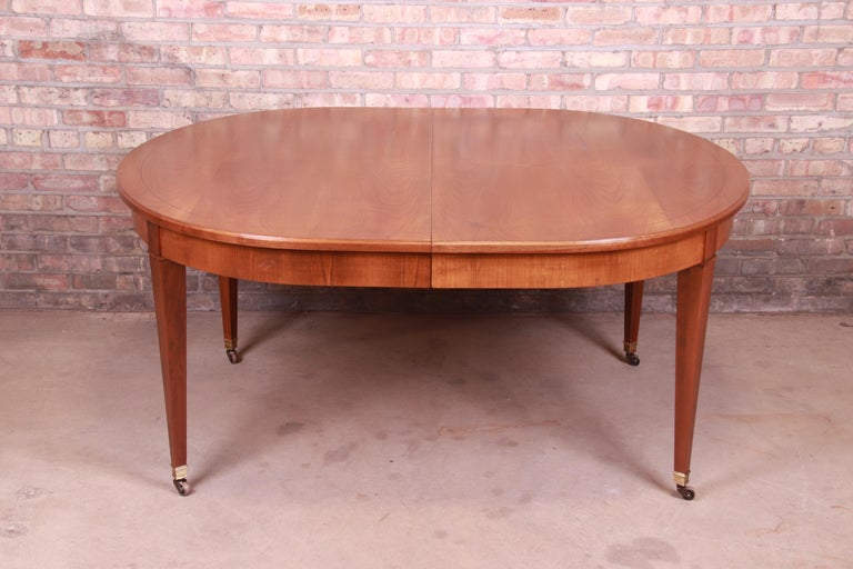 Baker Furniture French Regency Cherrywood Extension Dining Table, Refinished 4