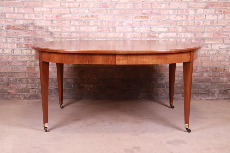 Baker Furniture French Regency Cherrywood Extension Dining Table, Refinished 5