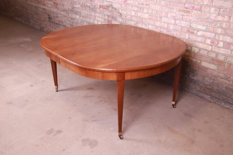 Baker Furniture French Regency Cherrywood Extension Dining Table, Refinished 6