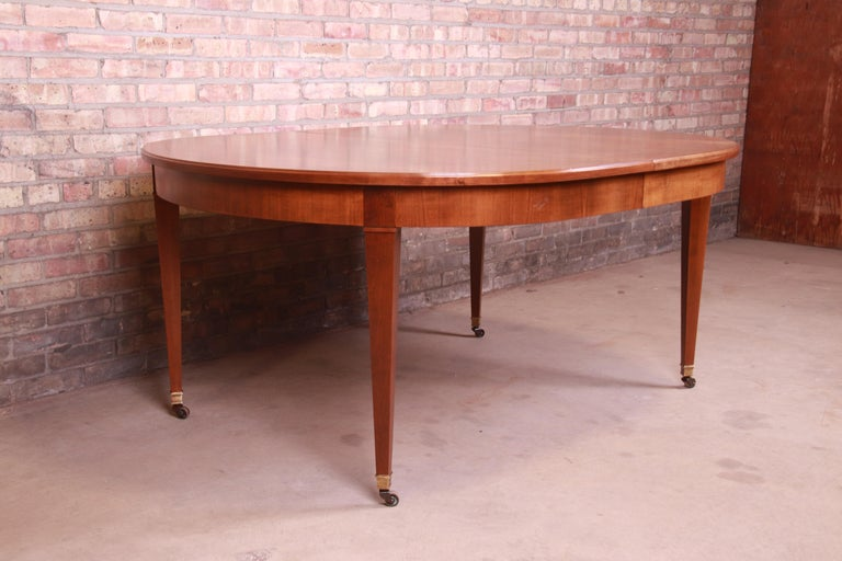 Baker Furniture French Regency Cherrywood Extension Dining Table, Refinished 7