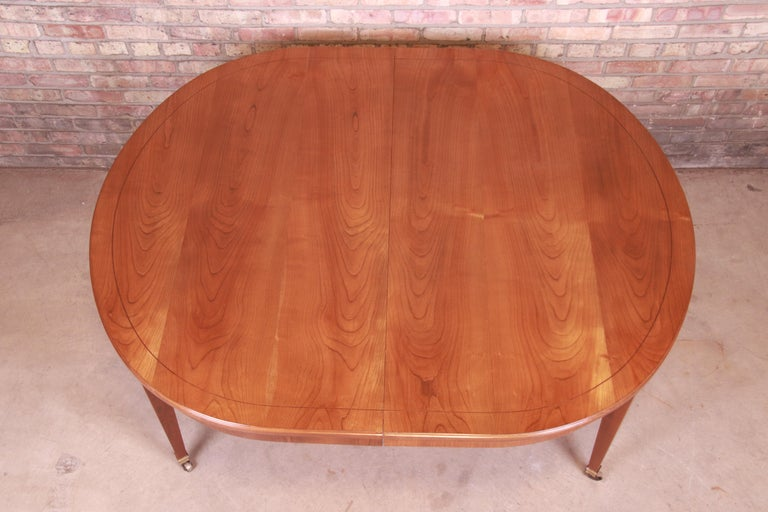 Baker Furniture French Regency Cherrywood Extension Dining Table, Refinished 8