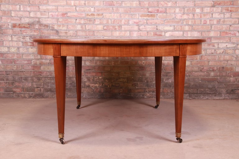 Baker Furniture French Regency Cherrywood Extension Dining Table, Refinished 10