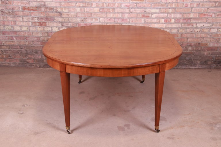 Baker Furniture French Regency Cherrywood Extension Dining Table, Refinished 11