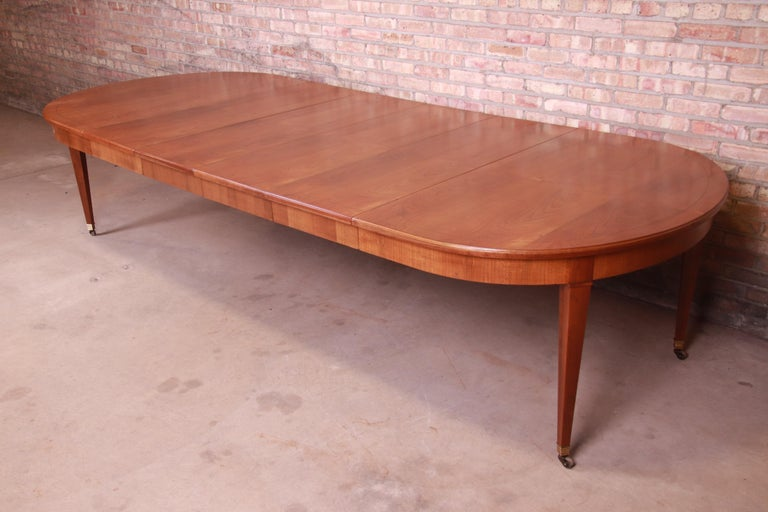 American Baker Furniture French Regency Cherrywood Extension Dining Table, Refinished