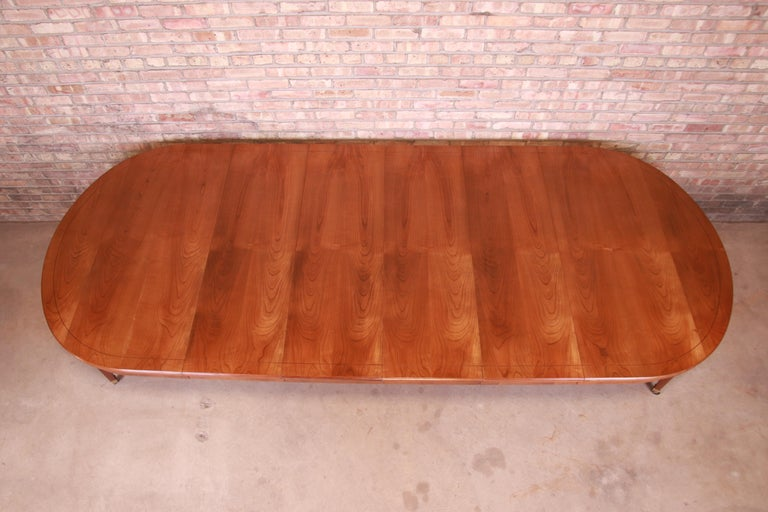 Baker Furniture French Regency Cherrywood Extension Dining Table, Refinished 1