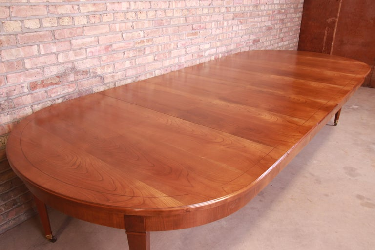 Baker Furniture French Regency Cherrywood Extension Dining Table, Refinished 2
