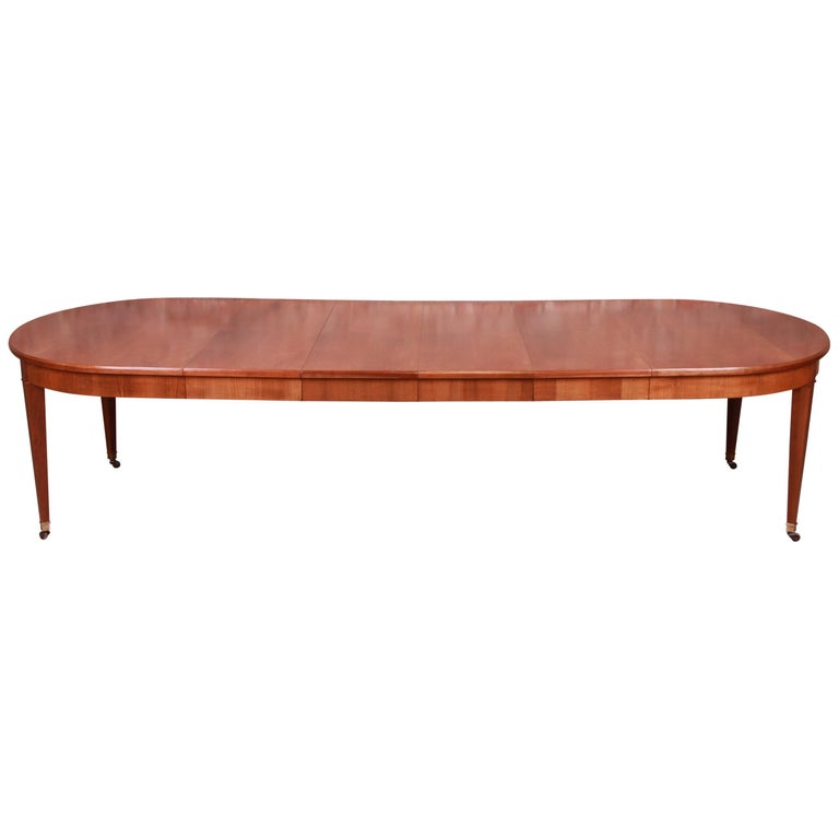 Baker Furniture French Regency Cherrywood Extension Dining Table, Refinished