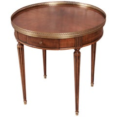 Baker Furniture French Regency Louis XVI Walnut Tea Table