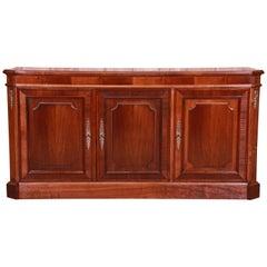 Baker Furniture French Regency Mahogany Sideboard or Bar Cabinet, Refinished