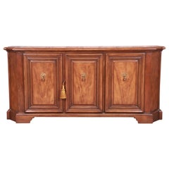 Baker Furniture French Regency Walnut Sideboard or Bar Cabinet
