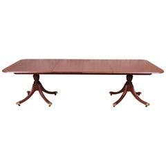 Baker Furniture Historic Charleston Banded Mahogany Dining Table, Newly Restored