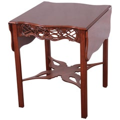 Baker Furniture Historic Charleston Carved Mahogany Pembroke Table, Restored