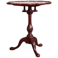 Baker Furniture Historic Charleston Carved Mahogany Tilt Top Tea Table