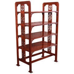 Baker Furniture Historic Charleston Collection Carved Mahogany Four-Tier Étagère