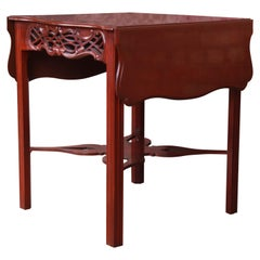 Baker Furniture Historic Charleston Collection Carved Mahogany Pembroke Table