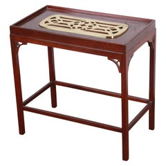 Baker Furniture Historic Charleston Collection Mahogany and Brass Side Table