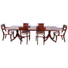 Baker Furniture Historic Charleston Georgian Banded Inlaid Mahogany Dining Set