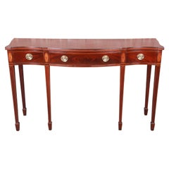 Baker Furniture Historic Charleston Inlaid Mahogany Federal Sideboard Credenza