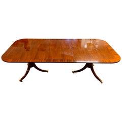 Baker Furniture Historic Charleston Mahogany Double Pedestal Table
