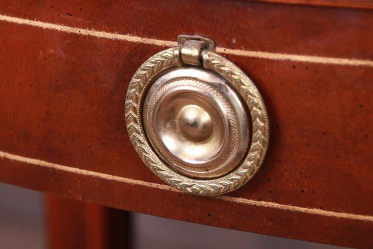 Baker Furniture Historic Charleston Mahogany Pembroke Tea Tables, Pair For Sale 4