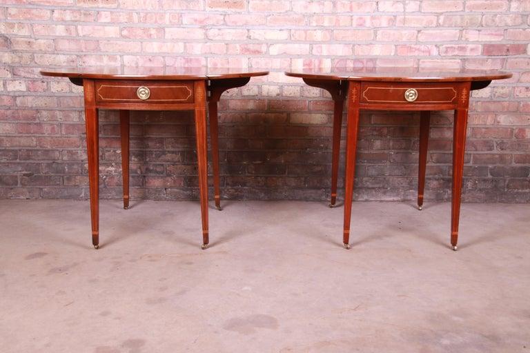 Baker Furniture Historic Charleston Mahogany Pembroke Tea Tables, Pair For Sale 9