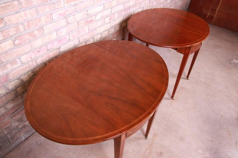 Baker Furniture Historic Charleston Mahogany Pembroke Tea Tables, Pair For Sale 12