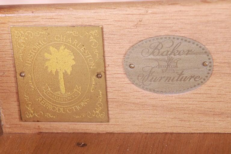 Baker Furniture Historic Charleston Mahogany Pembroke Tea Tables, Pair For Sale 13