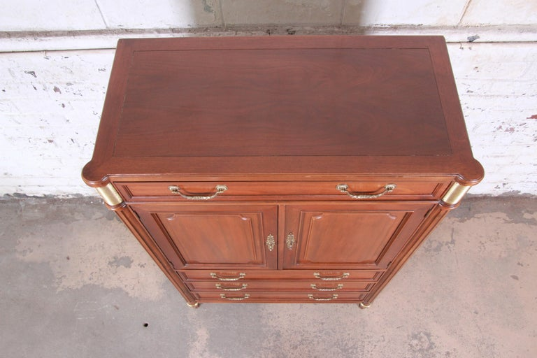 Late 20th Century Baker Furniture Louis XVI Style French Regency Gentleman's Chest For Sale