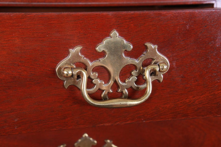 Brass Baker Furniture Mahogany Chippendale Style Highboy Dresser For Sale