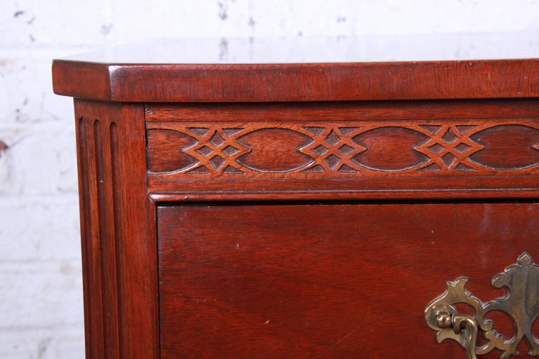 Late 20th Century Baker Furniture Mahogany Chippendale Style Long Dresser For Sale