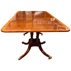 Baker Furniture Mahogany Double Pedestal Dining Table