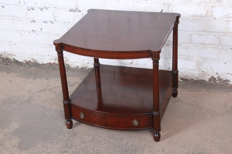 American Baker Furniture Mahogany Occasional Table or Nightstand, circa 1950s For Sale